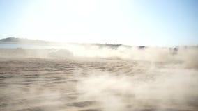 Het langzame off-road afdrijven van motiesubaru Impreza stock video