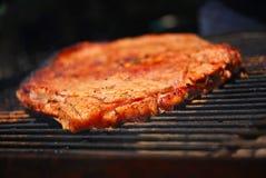 Het lapje vlees van de het rundvleesgrill van de close-up royalty-vrije stock foto