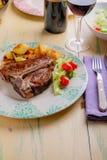 Het Lapje vlees van de kalfsvleesrib Stock Afbeeldingen
