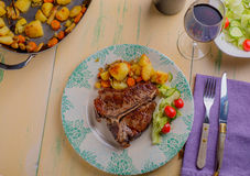 Het Lapje vlees van de kalfsvleesrib Stock Afbeelding