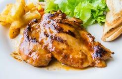 Het Lapje vlees van de kip met Groenten Royalty-vrije Stock Foto