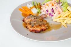 Het lapje vlees van de kip met groenten Stock Foto's