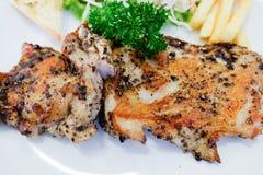 Het lapje vlees van de kip met groenten Royalty-vrije Stock Fotografie