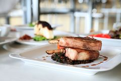 Het lapje vlees van de lamskotelet royalty-vrije stock afbeeldingen
