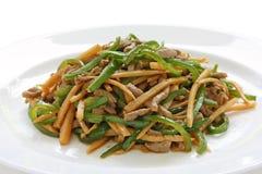 Het lapje vlees van de peper, Chinees voedsel Stock Foto