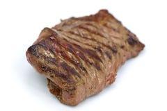 Het Lapje vlees van de Strook van het lendestuk, isoloted op wit Stock Foto