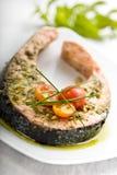 Het lapje vlees van de zalm Stock Fotografie