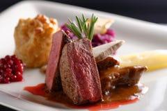 Het lapje vlees van het hertevleesvlees stock foto
