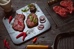 Het lapje vlees van het rundvlees Stock Foto's