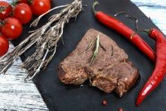 Het lapje vlees van het rundvlees met groenten Stock Foto