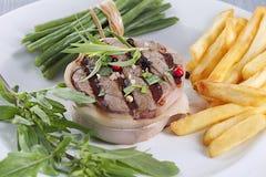 Het lapje vlees van het tournedosrundvlees Stock Foto
