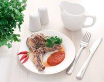 Het lapje vlees van het varkensvlees Royalty-vrije Stock Afbeelding