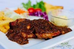 Het Lapje vlees van het varkensvlees Royalty-vrije Stock Foto