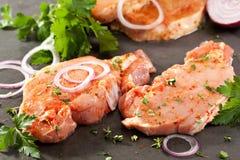 Het lapje vlees van het varkensvleeslendestuk Stock Afbeeldingen
