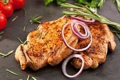 Het lapje vlees van het varkensvleeslendestuk Royalty-vrije Stock Foto's