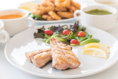 Het lapje vlees van makreelvissen Stock Afbeeldingen