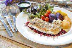 Het lapje vlees van overzeese baarzenvissen Stock Fotografie