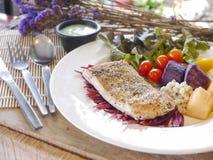 Het lapje vlees van overzeese baarzenvissen Royalty-vrije Stock Afbeeldingen