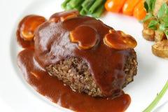Het lapje vlees van Salisbury royalty-vrije stock afbeeldingen