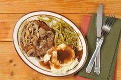 Het lapje vlees van Salisbury royalty-vrije stock afbeelding