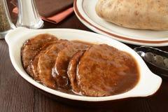 Het lapje vlees van Salisbury stock afbeelding