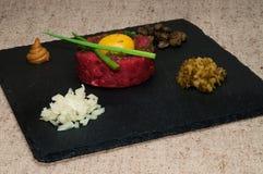 Het lapje vlees van Tartare Royalty-vrije Stock Afbeeldingen