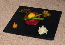 Het lapje vlees van Tartare Royalty-vrije Stock Foto's