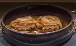 Het Lapje vlees van Turkije Salisbury royalty-vrije stock fotografie