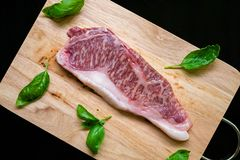 Het lapje vlees van het Wagyu kobe rundvlees stock fotografie