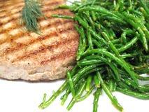 Het lapje vleesclose-up van de tonijn Stock Afbeelding