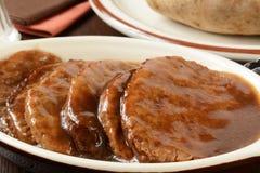 Het lapje vleesclose-up van Salisbury Royalty-vrije Stock Fotografie