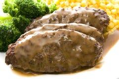 Het lapje vleesdiner van Salisbury royalty-vrije stock foto
