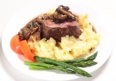 Het lapje vleesmaaltijd van het haasbiefstuk Royalty-vrije Stock Afbeeldingen