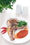 Het lapje vleesverticaal van het varkensvlees Royalty-vrije Stock Fotografie