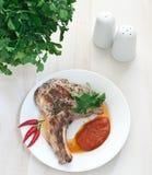 Het lapje vleesverticaal van het varkensvlees Royalty-vrije Stock Foto's