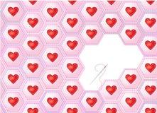 Het lapwerk van harten Stock Afbeelding