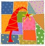 Het lapwerk van Kerstmis Stock Foto