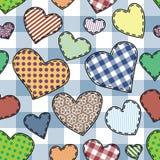 Het lapwerkpatroon van het hart Royalty-vrije Stock Afbeelding