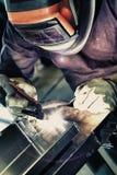 Het lassen van het aluminium stock foto