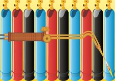 Het lassen van het gas stock illustratie