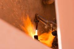 Het lassen van staal-1 royalty-vrije stock fotografie