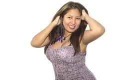 Het Latijns-Amerikaanse vrouw stellen Stock Foto's