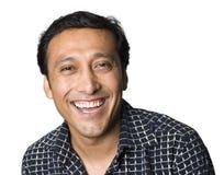 Het Latino mens glimlachen stock fotografie