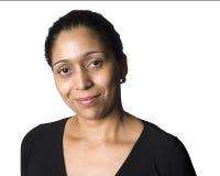 Het Latino vrouw glimlachen royalty-vrije stock afbeelding