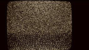 Het lawaai van TV stock videobeelden
