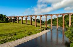 Het Leaderfoot-Viaduct in Noordelijk Engeland royalty-vrije stock foto's