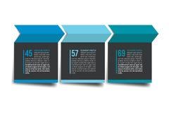 3 het leerprogramma van de stappenpijl, grafiek, diagram Één, twee, concept drie Royalty-vrije Stock Afbeeldingen