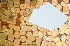 Het lege adreskaartje of de naamkaart met exemplaarruimte voor voegt tekstna toe royalty-vrije stock afbeeldingen