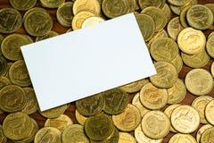 Het lege adreskaartje of de naamkaart met exemplaarruimte voor voegt tekstna toe royalty-vrije stock foto's