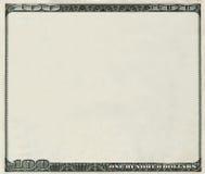 Het lege bankbiljet van 100 Dollars met copyspace vector illustratie